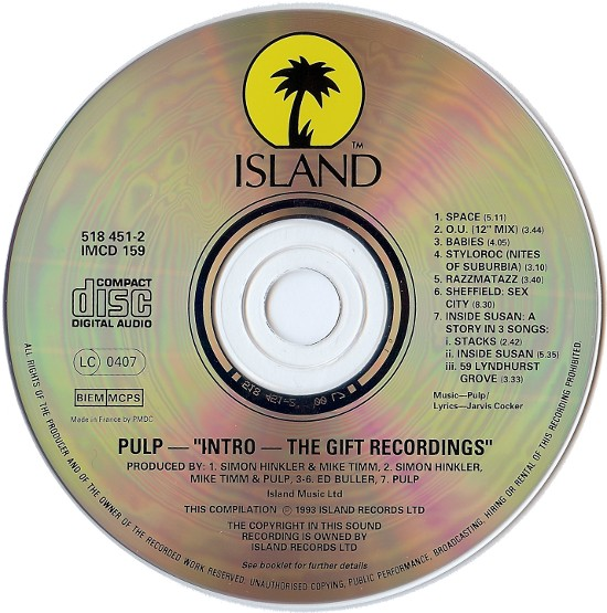 Pulp - Intro. The Gift Recordings